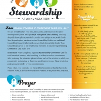 Annunciation Stewardship Guide: Front