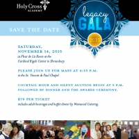 "Holy Cross Academy Gala ""Save the Date"""