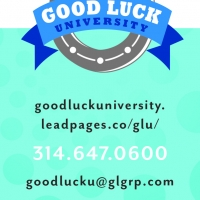 Good Luck University Universal Business Card Front