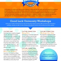 Good Luck University Marketing Flyer Front