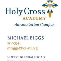 Holy Cross Academy Business Card