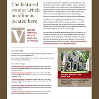 Vogel Realty Email Newsletter Mockup