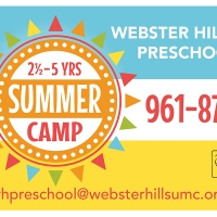 Webster Hills Preschool Summer Camp Yard Sign