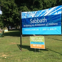 Webster Hills Preschool & Sabbath Series Signs