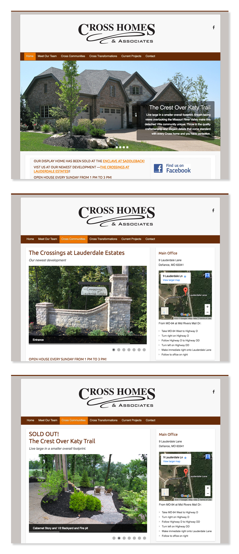 Cross Homes and Associates Website
