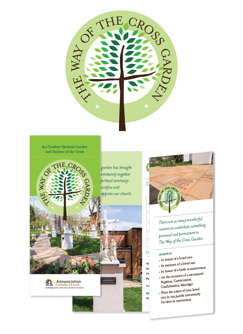 Way of the Cross Garden Logo and Promotion Materials