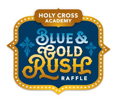 Blue & Gold Rush Raffle Logo