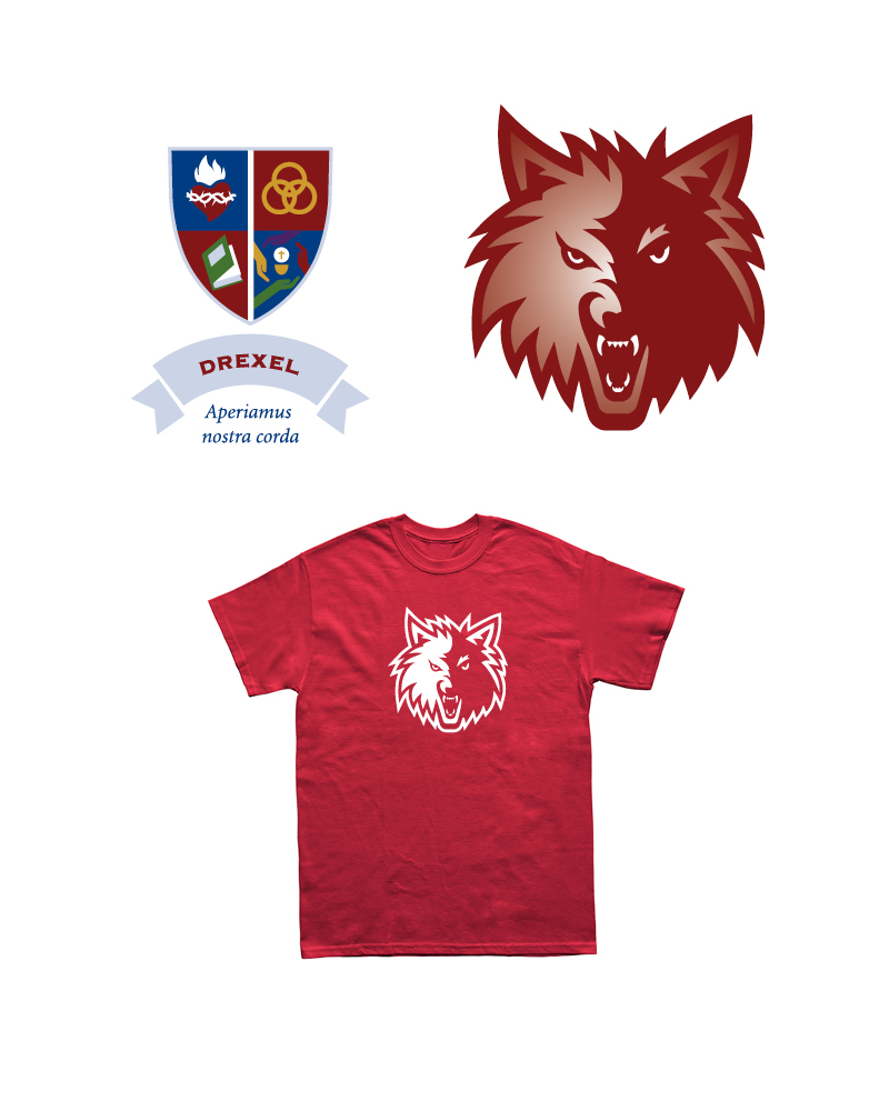 Drexel House Crest, Mascot and T-shirt