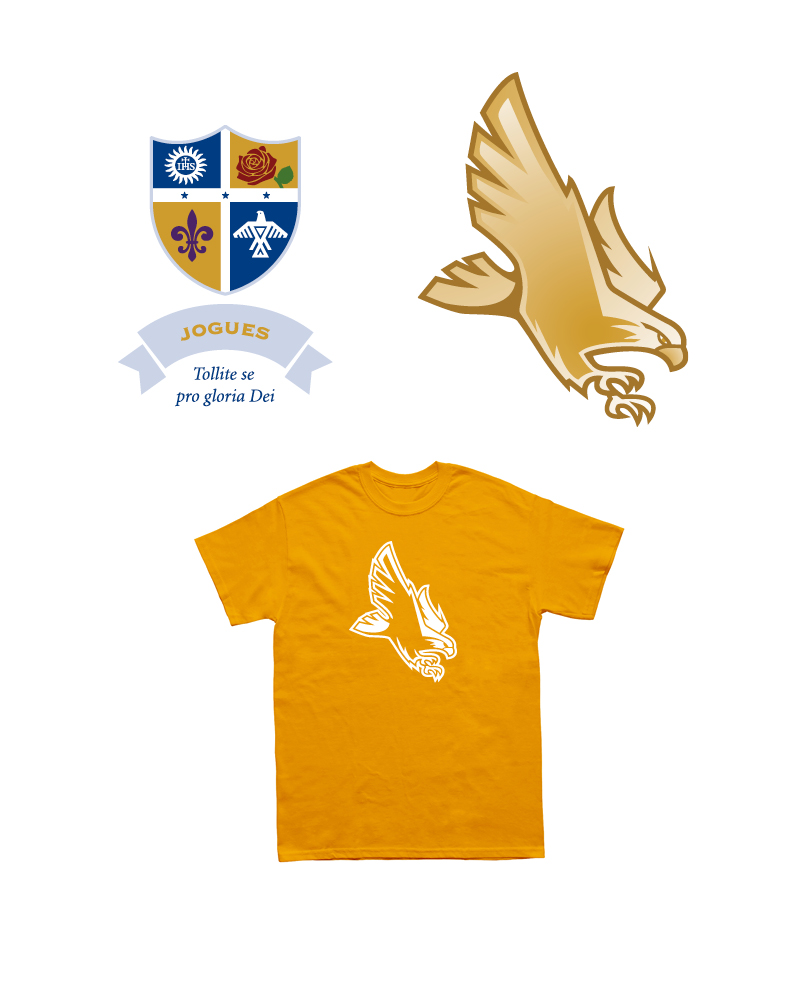 Jogues House Crest, Mascot and T-shirt