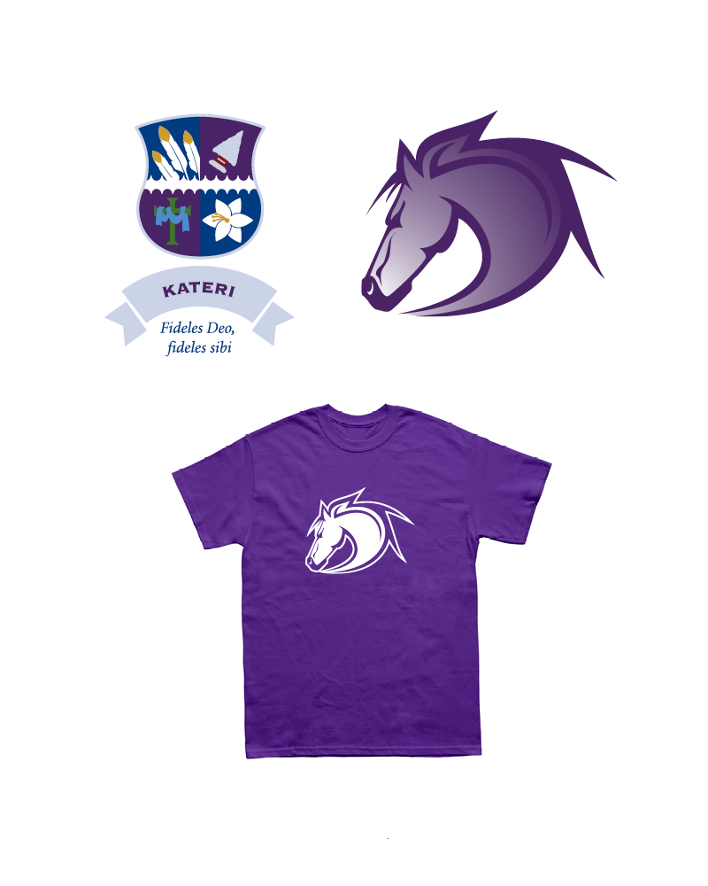 Kateri House Crest, Mascot and T-shirt